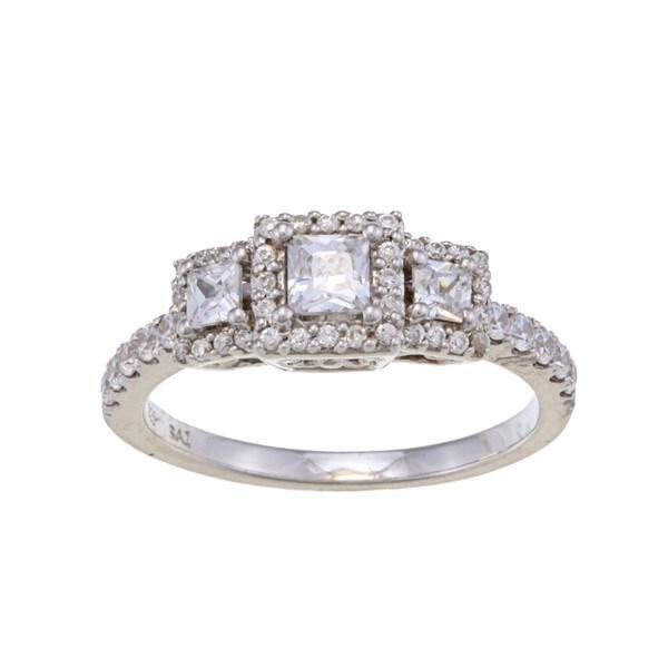 14k White Gold 1ct TDW Diamond 3-stone Engagement-style Ring (H-I, I2)