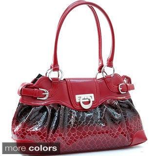 Shiny Snakeskin-pattern Faux Leather Fashion Shoulder Bag