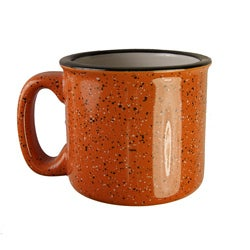 Santa Fe Style Ceramic Mug, 15 oz- Orange (Set of 4)