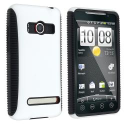 White Hybrid Case for HTC EVO 4G Supersonic