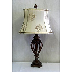 Transitional 1-light Acasia Bronze Table Lamp