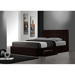 Belmont Espresso Queen-size Storage Bed