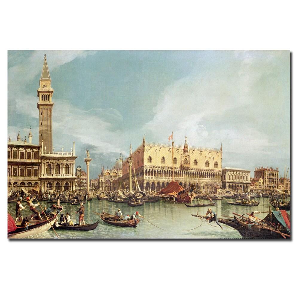 Canaletto 'The Molo Venice' Canvas Art