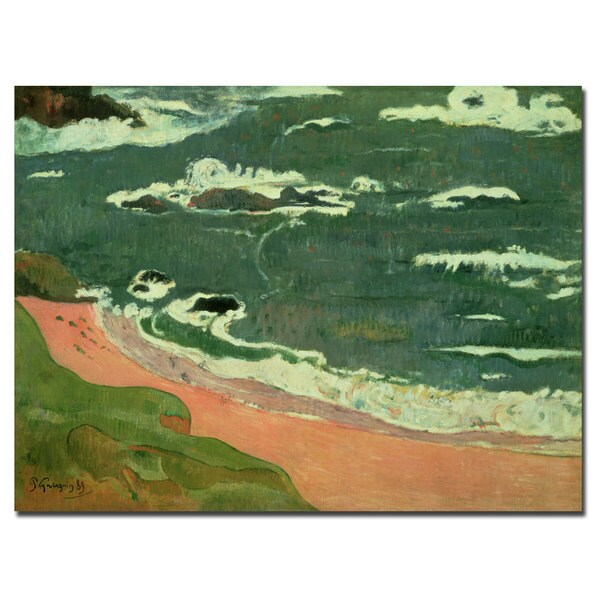 Paul Gaugin 'Beach at Le Pouldu 1889' Canvas Art 12070245