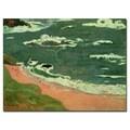 Paul Gaugin 'Beach at Le Pouldu 1889' Canvas Art
