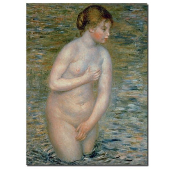 Pierre Auguste Renoir 'Nude in the Water 1888' Canvas Art 12070246