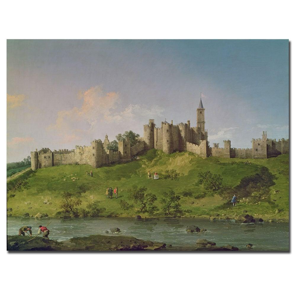 Canaletto 'Alnwick Castle' Canvas Art