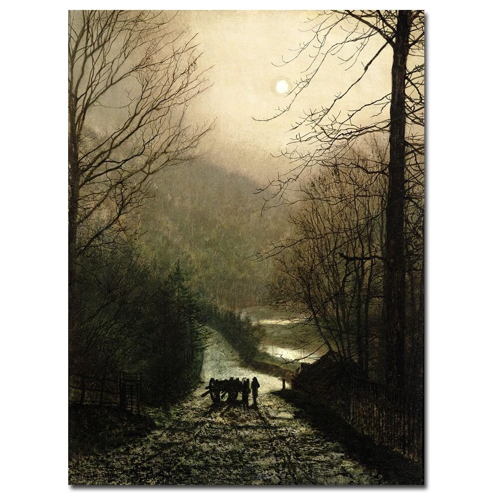 John Atkinson Grimshaw 'The Timber Waggon' Medium Canvas Art