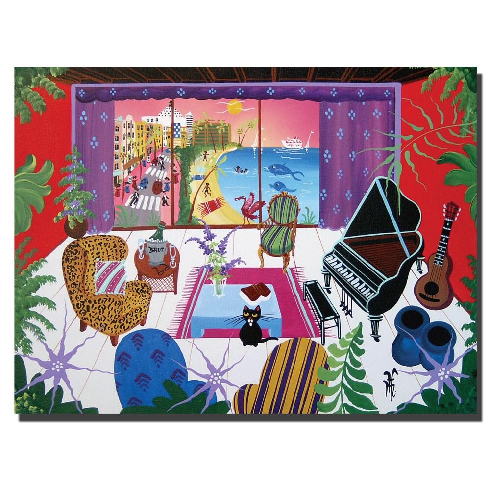 Herbert Hoffer 'South Beach View' Canvas Art