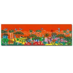 Carlos 'Orange Sky' Canvas Art