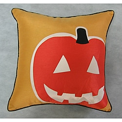Happy Halloween Pumpkin Throw Pillow