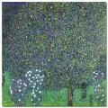 Gustav Klimt 'Roses Under the Trees 1905' Gallery-Wrapped Canvas Art