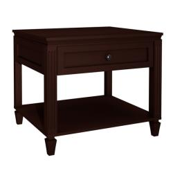 Traditional 1-drawer Wenge Finish End Table