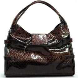 Dasein Snakeskin Embossed Faux Leather Shoulder Bag