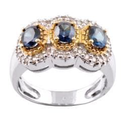 Michael Valitutti 14k Gold Multicolor Garnet and 1/4ct TDW Diamond Ring (I-J, I1-I2)