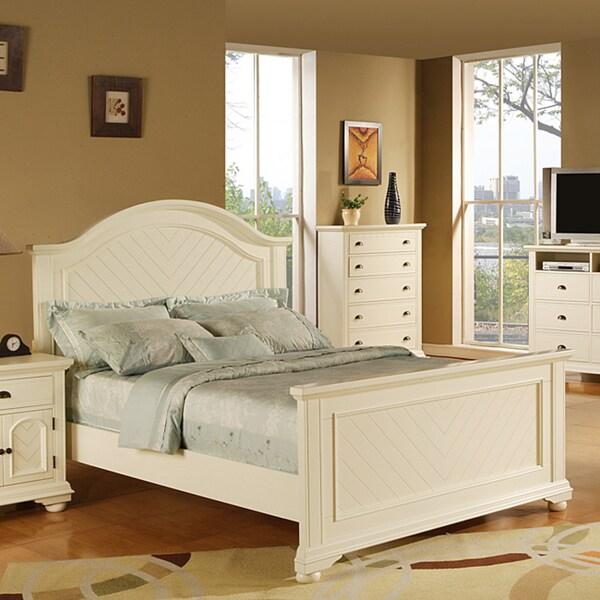 Picket House Napa White King-size Bed