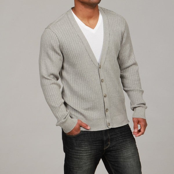 Mens Cardigan Button Up Sweater