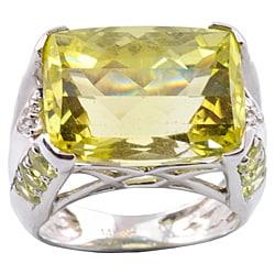 Michael Valitutti 14k Gold Oro Verde, Chrysoberyl and Diamond Ring