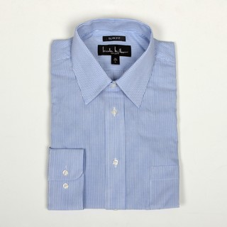 nicole miller men 39 s blue stripe dress shirt overstock