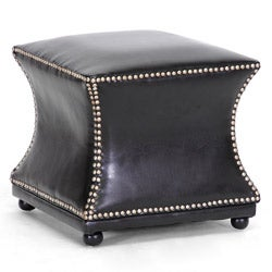 Ellastone Dark Brown Modern Leather Ottoman