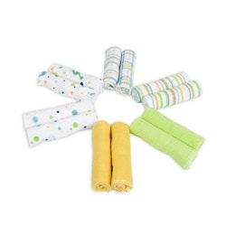 Piccolo Bambino Essential Yellow Washcloths (Pack of 12)