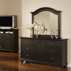 Napa Black Dresser and Mirror