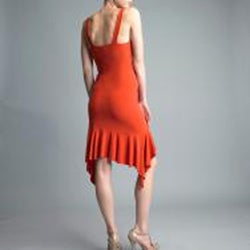 Issue New York Women's Orange Ruffle Hem Cocktail Dress