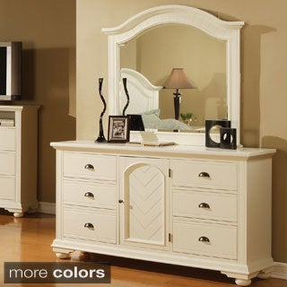 Napa White Dresser and Mirror