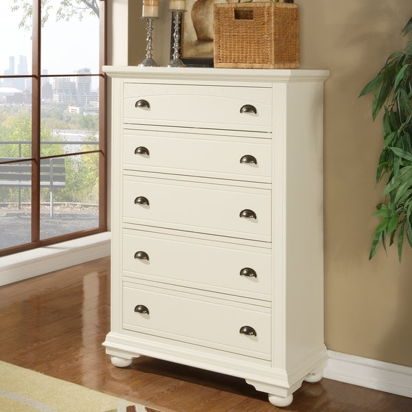 Napa 5-drawer White Chest