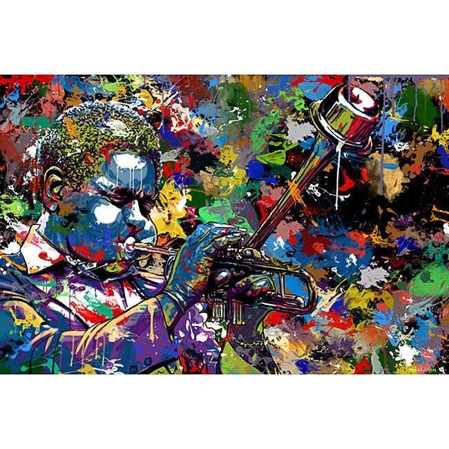 Maxwell Dickson 'Jazz' Limited Edition Canvas Wall Art