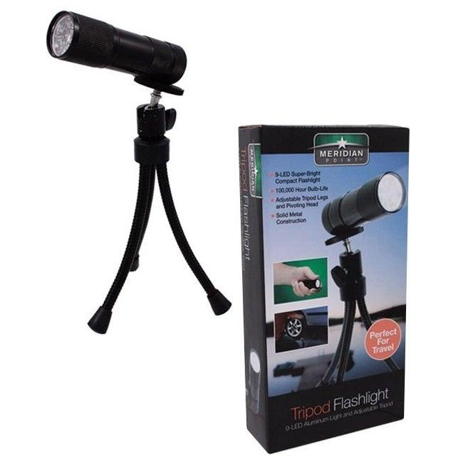 LED Flashlight With Tripod