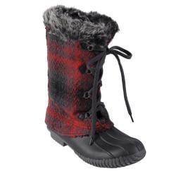 Big Buddha Women's 'Rest' Faux Fur Trimmed Fabric Lace-up Boots