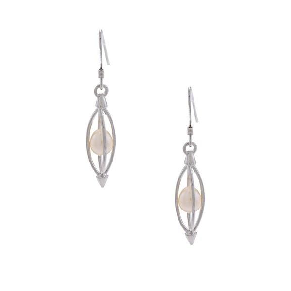 Kabella Sterling Silver Freshwater Pearl Shepherd's Hook Earrings (5-6 mm)