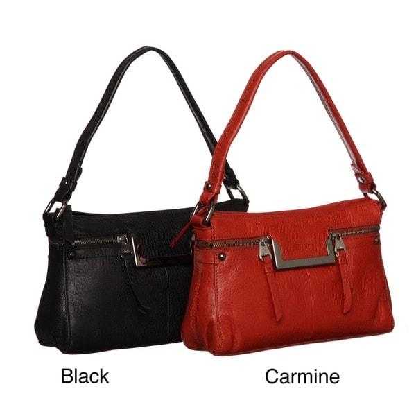 Perlina Lola Leather Zip-top Shoulder Handbag
