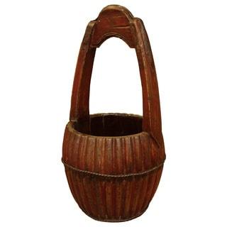 Vintage Tribal Dragonfruit Bucket