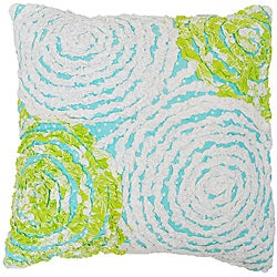 Lacey's Circle Ruffle Decorative Pillow