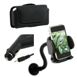 Leather Case/ Car Charger/ Windshield Mount for Nokia 5800
