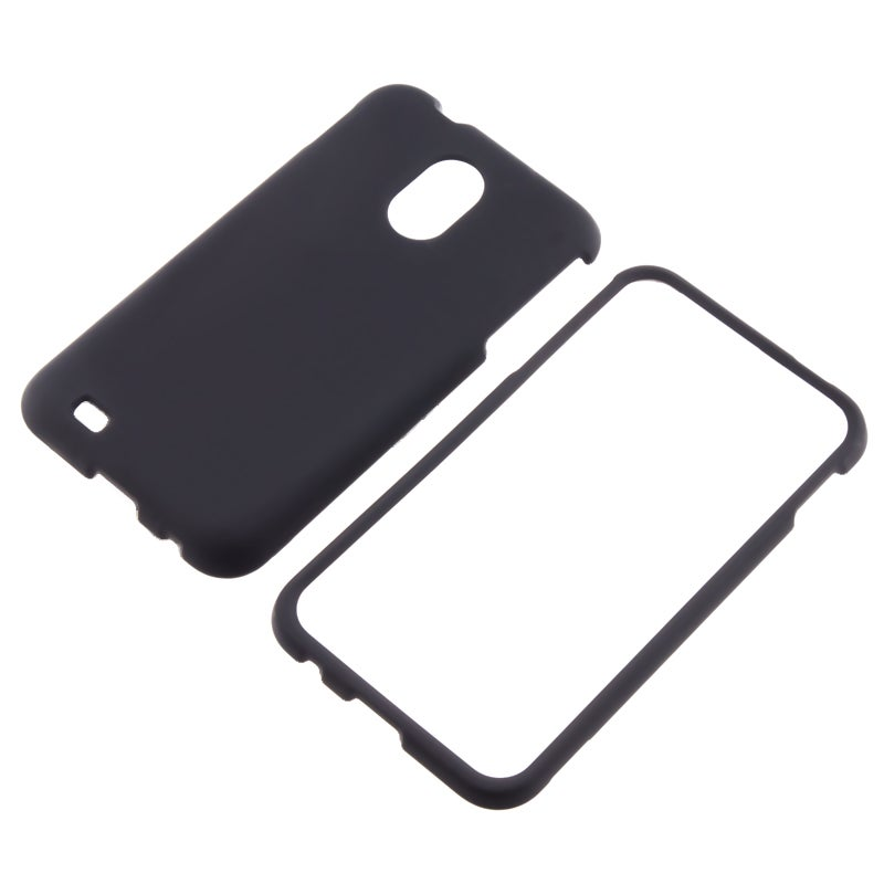 Black Rubber-coated Case for Samsung Epic 4G Touch D710