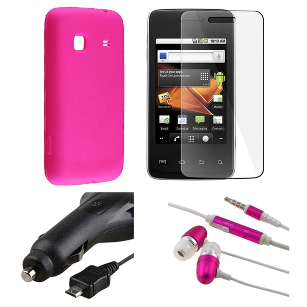 BasAcc Pink Case/ Headset/ Charger for Samsung Galaxy Prevail M820