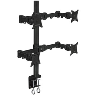 Mount-It! Articulating Quad-arm 27-inch Monitor Desk Mount