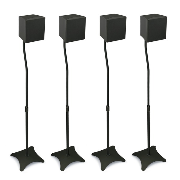 Mount-It! Home Theater Satellite Speaker Stands (Pack of 4)
