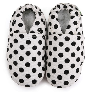 Black Dot Infant Girl Canvas Shoes