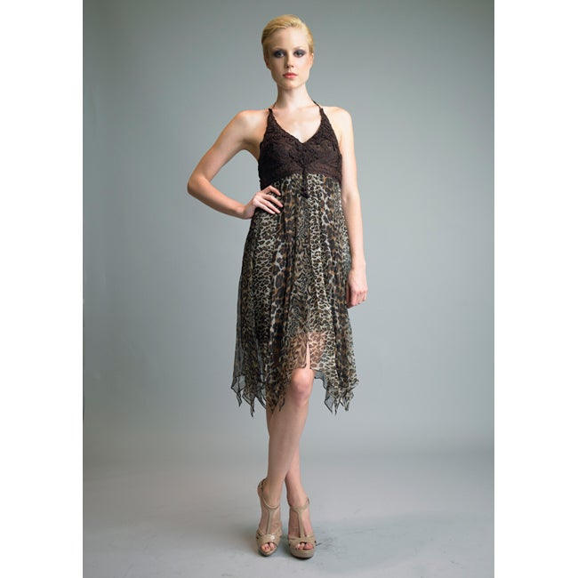 Issue New York Women's Animal Print Silk Cocktail Dress