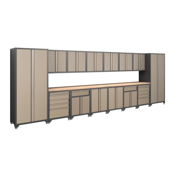 NewAge Products Pro Series Taupe 16-piece Cabinetry Set
