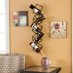 Stacking Cube Wall Mounted Wine Rack