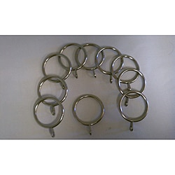 Children's Drapery Pole Silver No-clip Rings (Set of 10)