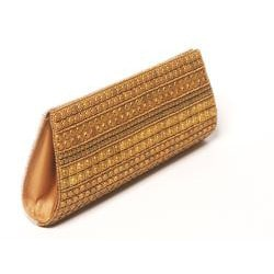 Hand-embroidered Two-tone Beaded Handbag (India)