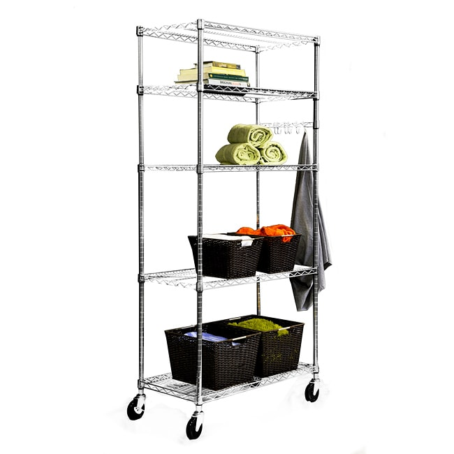 Trinity Home Entertainment Trinity 36-inch NSF Chrome Wire Shelving Rack at Sears.com
