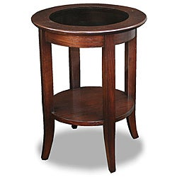 Chocolate Bronze Round Side Table