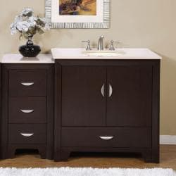 Silkroad Exclusive 53.5-inch Marble Top Single Vanity